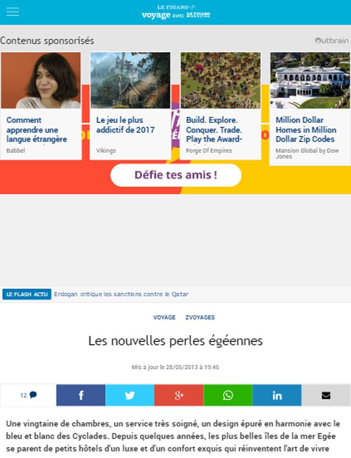Le Figaro (online) FRANCE